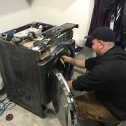 Door gasket installation
